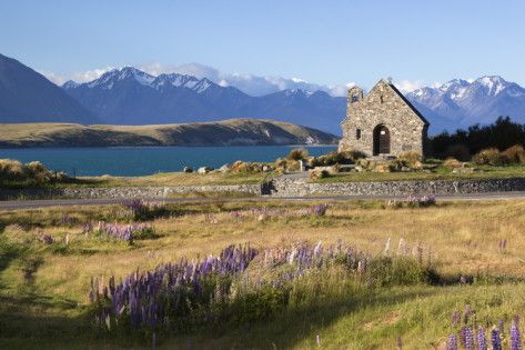 Church of the Good Shepherd, Lake Tekapo, Canterbury Region, South Island, New Zealand, Pacific Photographic Print by Stuart Black at AllPosters.com