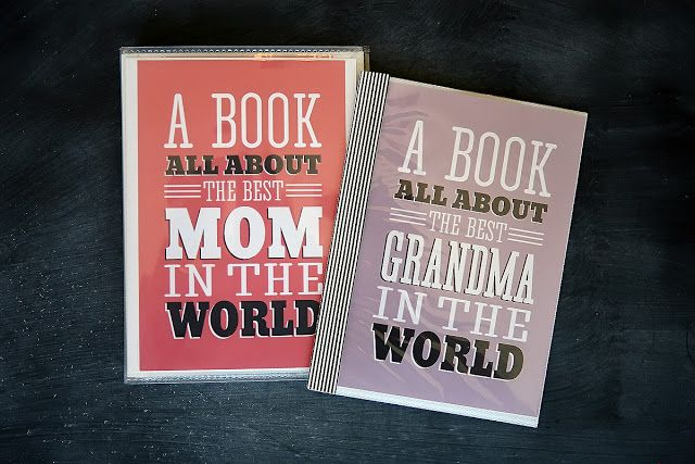 Printable pages for a Book all about Mom & Grandma via eighteen25: [Mothers Day] A Book For Mom