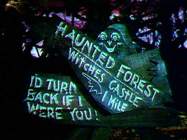 wizard of oz haunted forest sign - Google Search