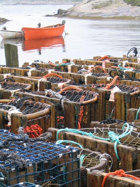 Lobster Traps in Nova Scotia