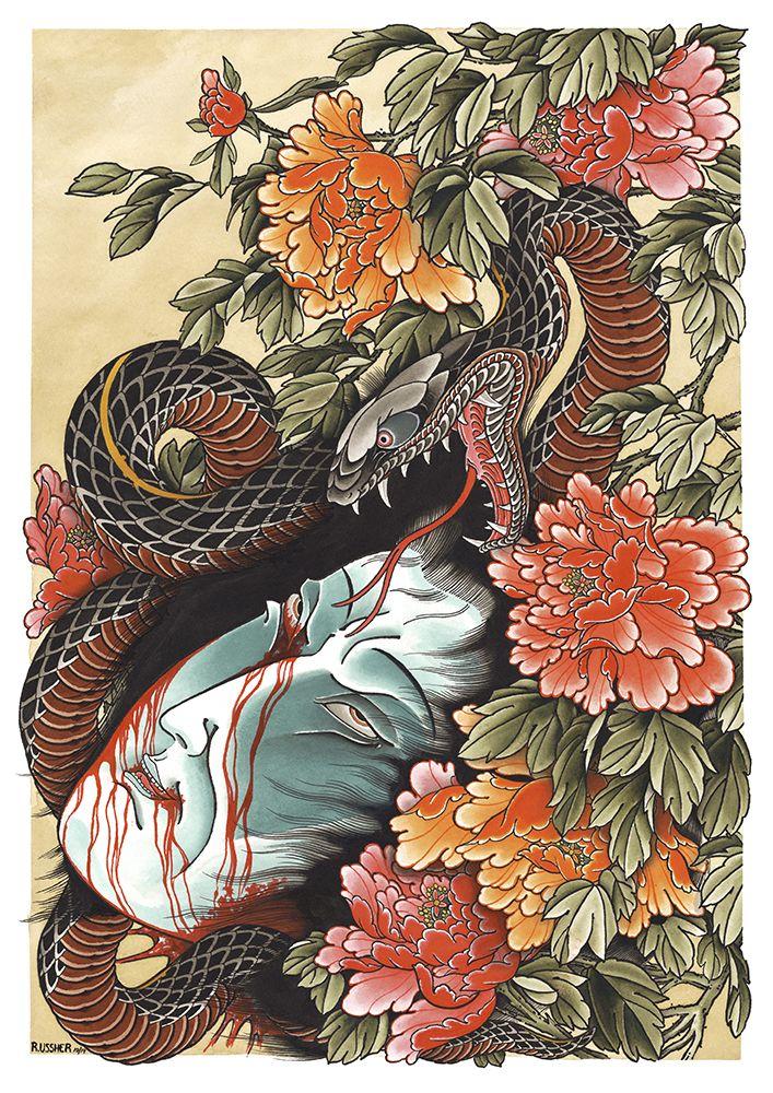 Pin by 大寶 嵐 on Japanese art in 2020 Snake tattoo design