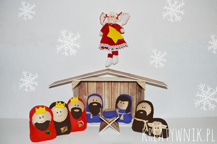 Felt christmas crib for kids