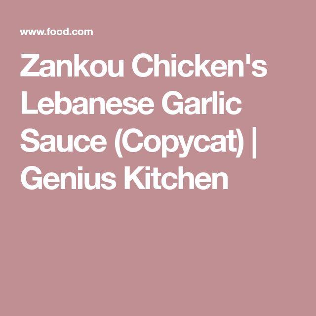 Zankou Chicken's Lebanese Garlic Sauce (Copycat) | Genius Kitchen
