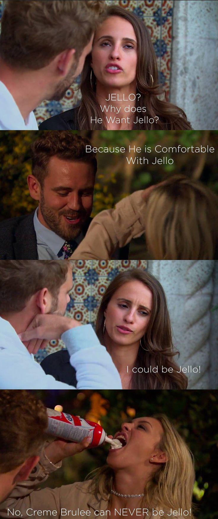 Bachelor 2017 Nick Viall - Vanessa vs Corinne = Jello vs Creme Brulee  Bachelor Meme Bachelor Meme's
