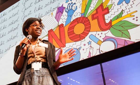 """What conference, besides TEDYouth, could bring together an elephant communication expert, the head of research at Pixar, a professional storm chaser, and a 16-year-old DJ? TEDYouth 2013, """"The Spark..."""