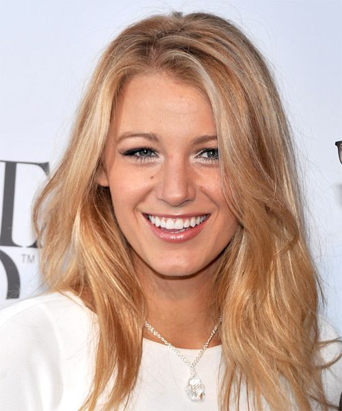 Blake Lively Hairstyle - Long Straight Casual - Medium Blonde