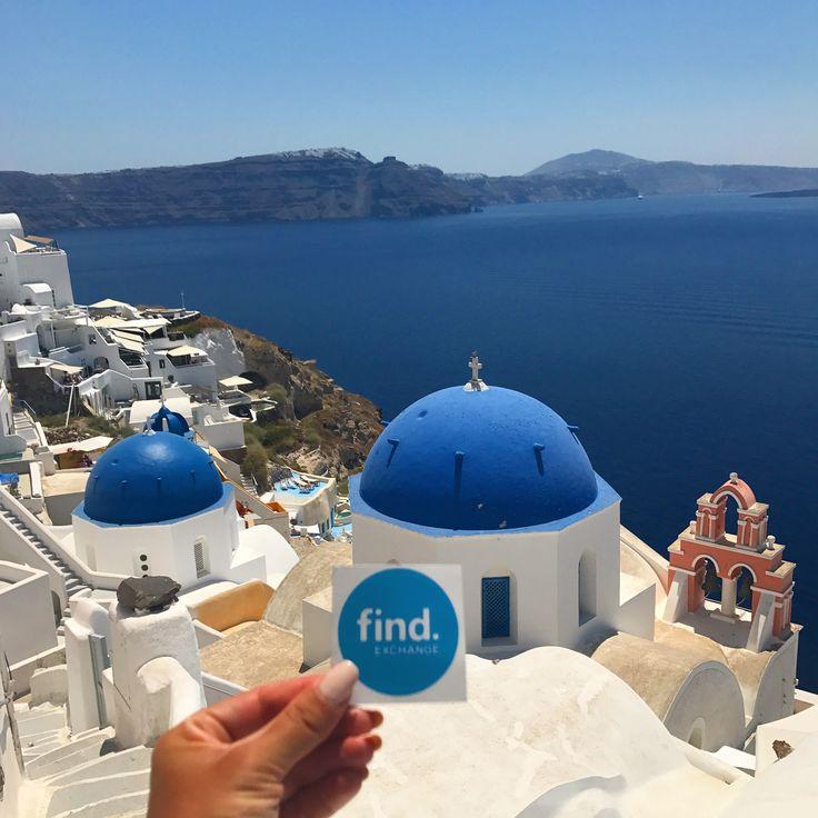 Find.Exchange arrived to #Santorini #Greece📍
