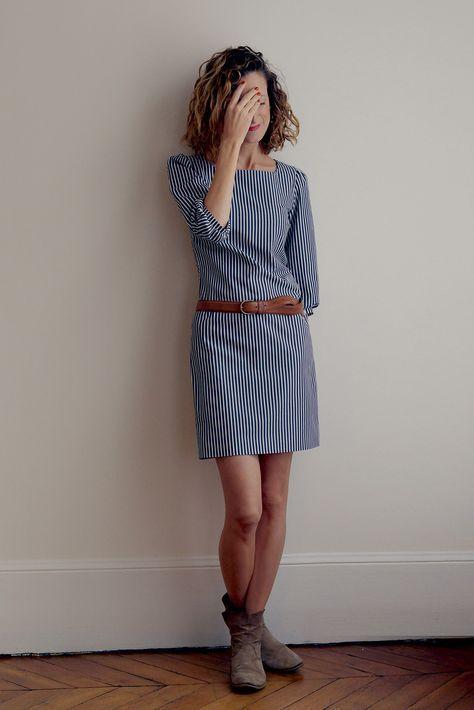 La petite robe - patron robe femme du 34 au 48, niveau de couture intermédiaire, finition de qualité, robe chic, doublée, manche 3/4