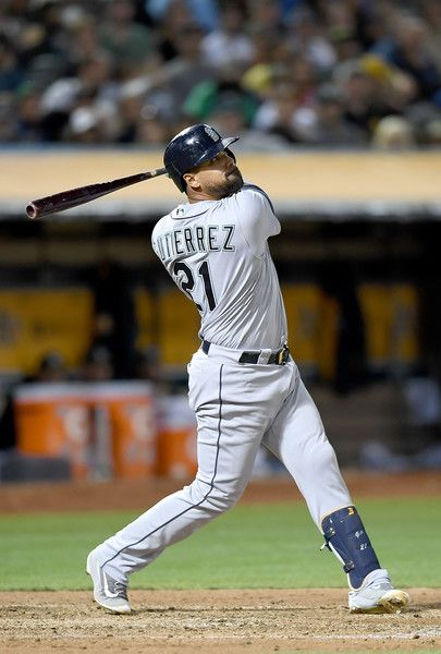 Franklin Gutierrez Photos - Franklin Gutierrez #21 of the Seattle Mariners hits…