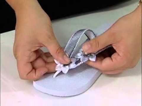 ▶ ARTE BRASIL -- VALÉRIA SOARES -- CHINELO DECORADO COM FITAS (16/12/2010 - Parte 2 de 2) - YouTube