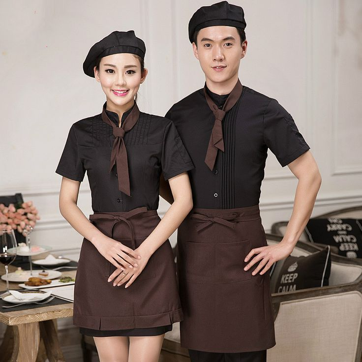 Chinese Chef Uniform Chef Clothes Cook Uniform Summer Work Wear for Waiter Clothing  Cafe Restaurant Restaurant Staff Clothes