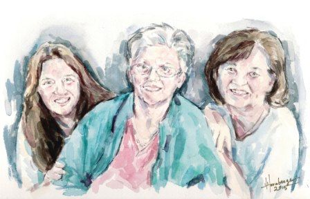 Custom Watercolor Painting Family Grouping 16 X by BloominMorning