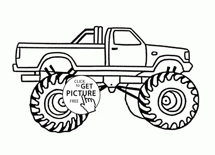 Bigfoot Monster Car coloring page for kids, transportation ...