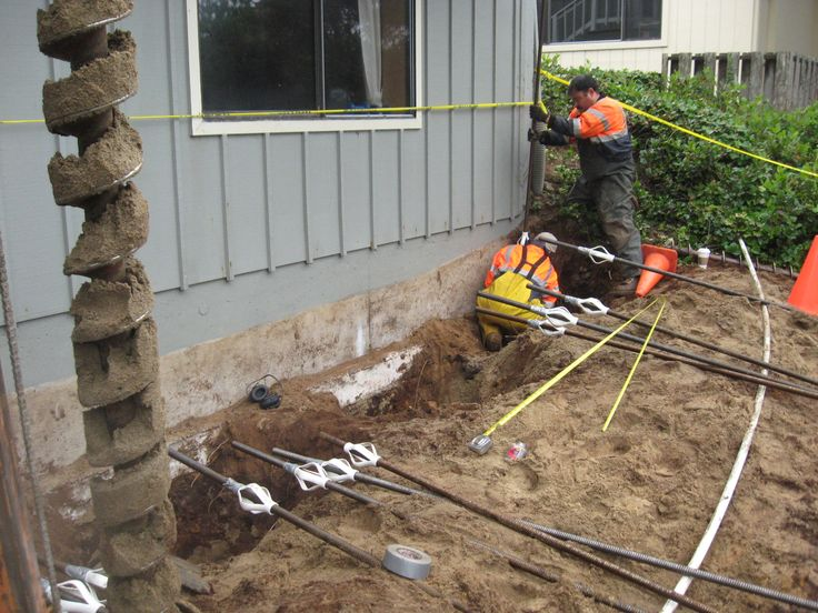 We excavate holes under the foundation of the buildings and pour concrete to reinforce the existing foundation. In most of the cases, application of pressures becomes necessary, which in turn help out experts to lift up the edifice to its actual position.