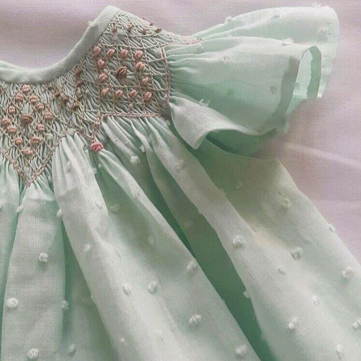 Baby girl smocked dress handmade dress by amelieboutiquekids
