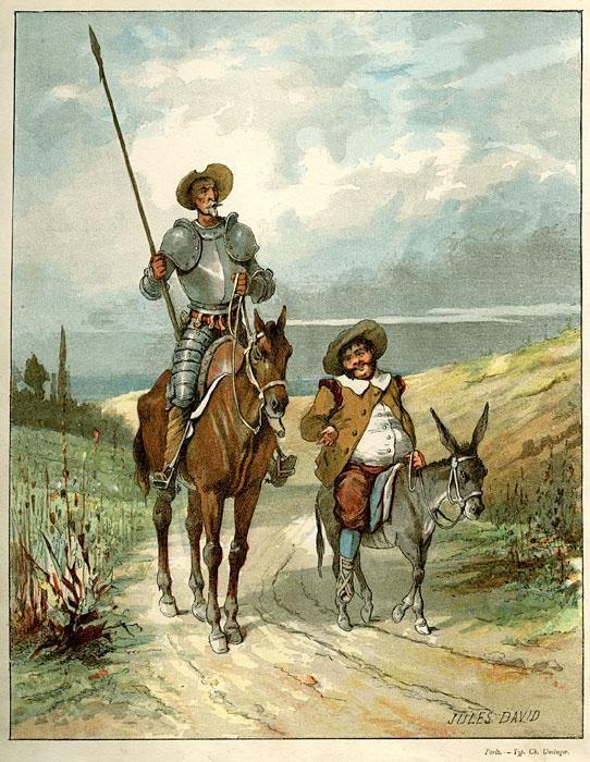 Don Quixote and Sancho.  #AñoQuijote