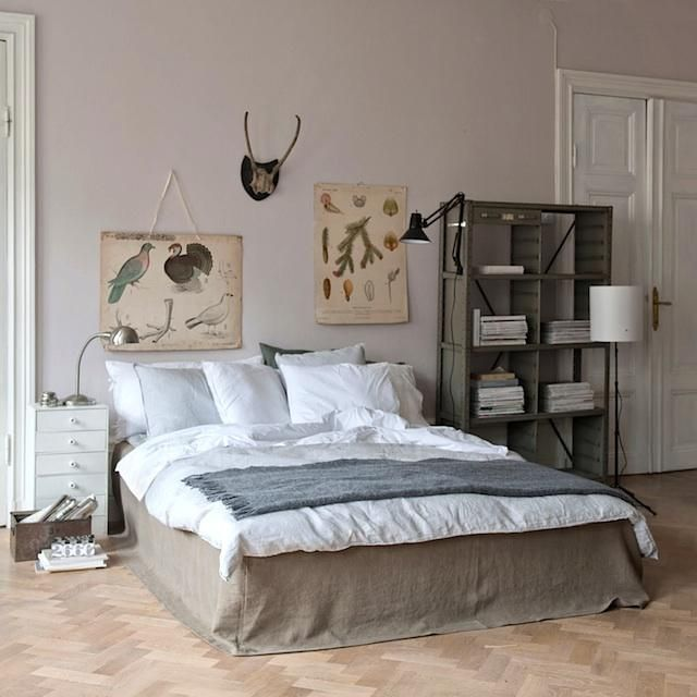 perfecto. a modern linen bedskirt to cover up the storage under the bed.