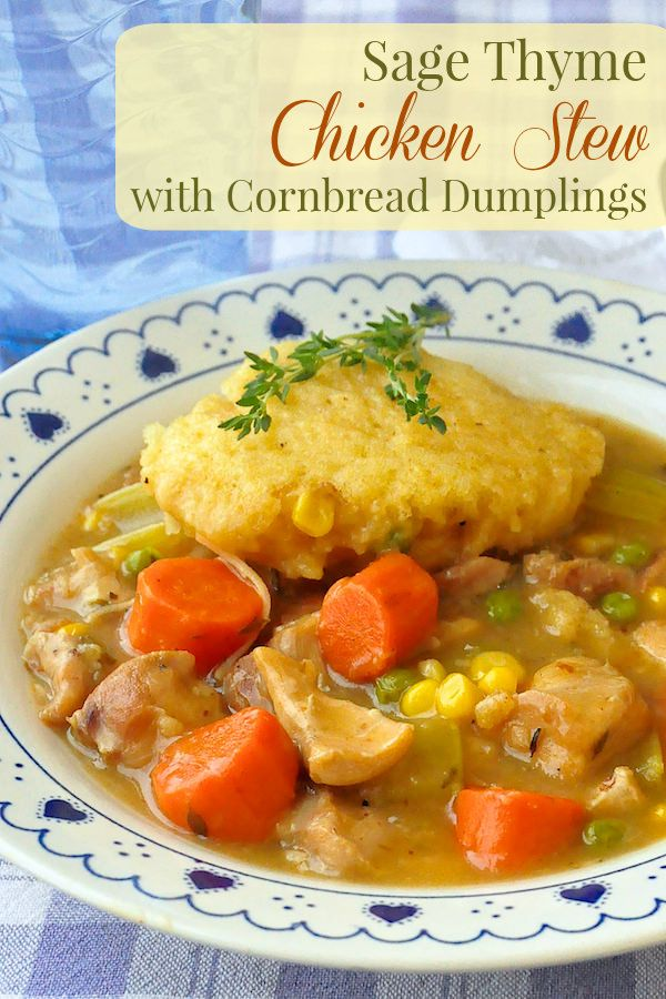 ... cornbread dumplings are the perfect addition to this satisfying