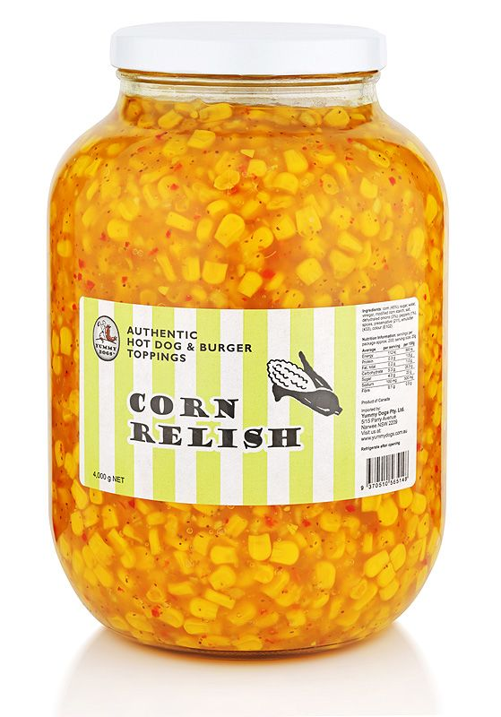 A universal favourite, our corn relish is traditionally made to spice up chicken, pork, tuna, bacon, hot dogs, burgers, sandwiches or wraps.