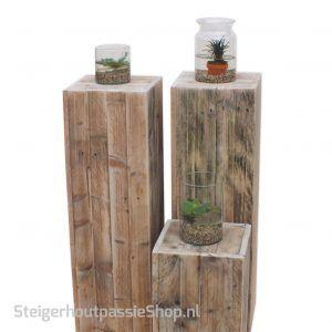 sloophouten zuil box 3 met vijvervaas SP