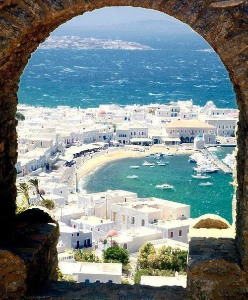 This is a great shot of Mykonos - Greek Islands