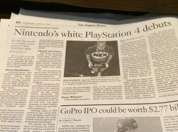 LA Times breaks Nintendo's surprising E3 announcement