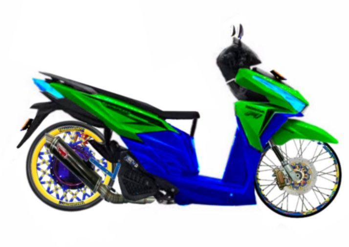 Mentahan Montor Beat 125 Thailook Seni Gif Gambar Digital Desain