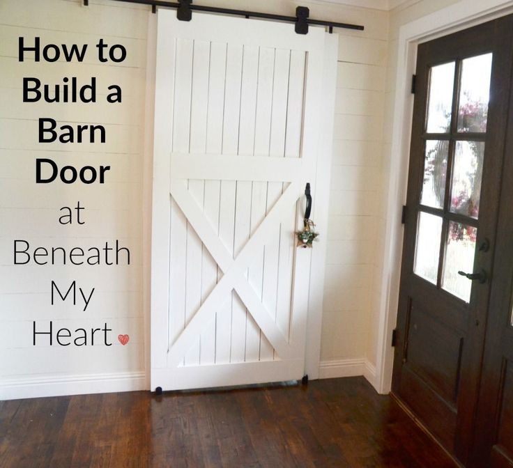 Step-by-step instructions for building your own practical (and trendy!) barn door.