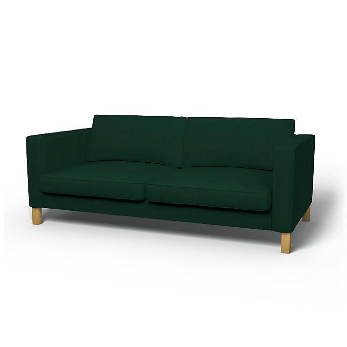 Karlstad, Sofabezüge, 3er, Regular Fit diesen Stoff anwenden Panama Cotton Ivy