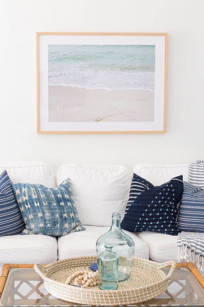 Light and Bright Summer Living Room with