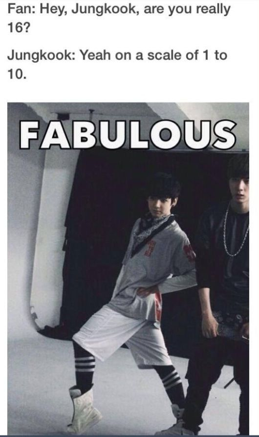 Fabulous jungkook... he's moving up the bias list lol... and he's only a year older than me!!!