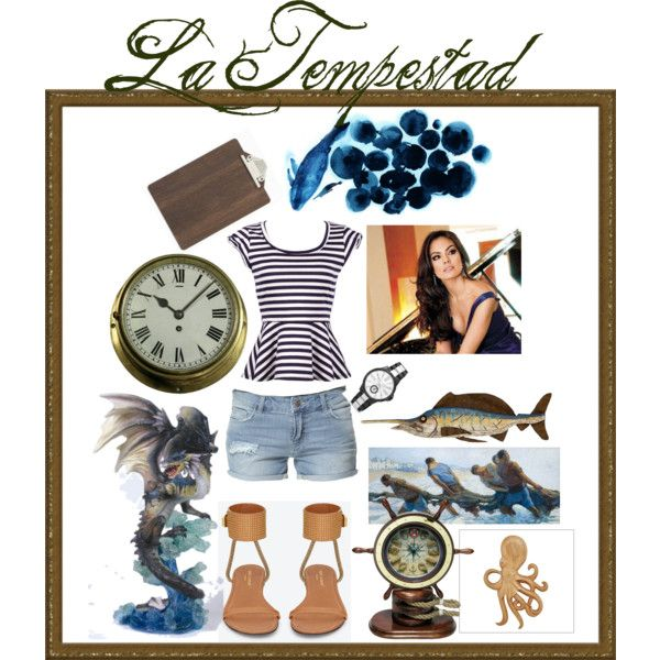 La Tempestad ~ Marina by selinaigraham on Polyvore featuring moda, Zara, Yves Saint Laurent, Vince Camuto, ferm LIVING, Infinity Instruments and Pottery Barn
