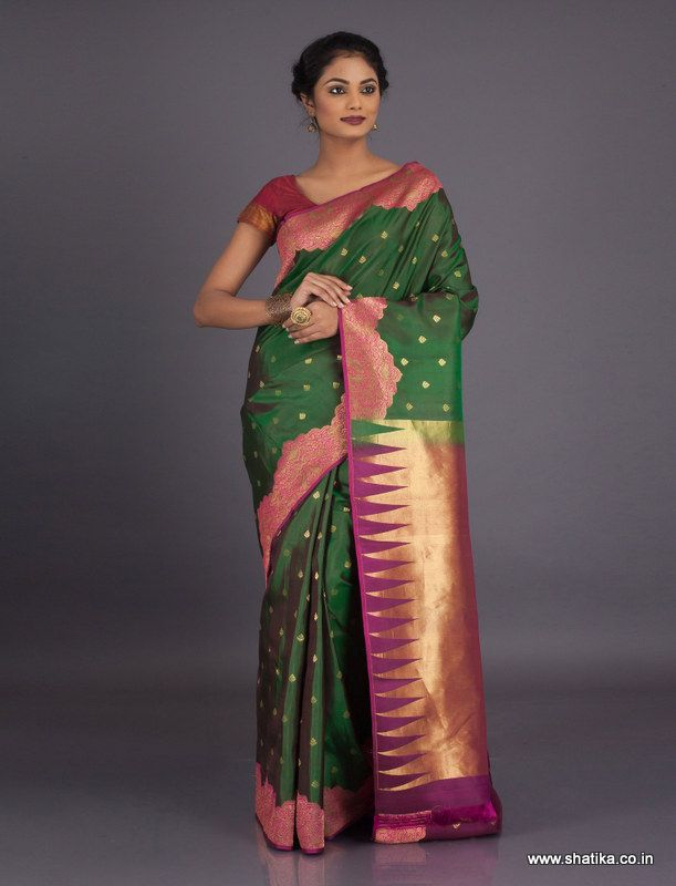 The distinguishing factor of the Bangalore silk< sarees is that they are produced using threads from a special type of silk worm called Bangalore silk that is rather rare and its cultivation is highly labor intensive. Exclusively produced by the community, all our Bangalore silk sarees online is much loved for their beauty, comfort and sturdiness.