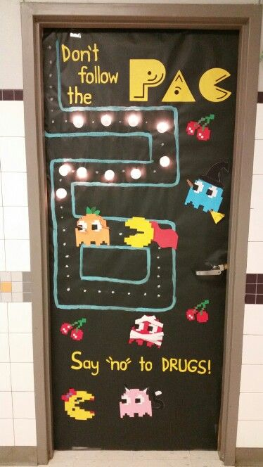 "Red Ribbon Week Halloween Pac-Man Theme ""Don't follow the Pac. Say 'no' to DRUGS!!"""