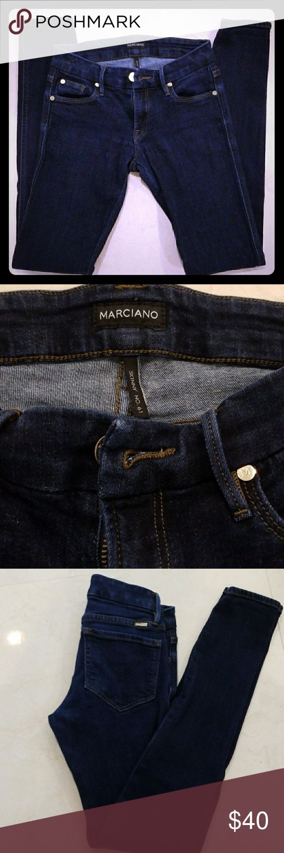 """Guess marciano Jeans Skinny jeans from Guess Marciano, gently used few times but no longer fits. No rips, stains, smoke free home. INSEAM 29"""" Guess by Marciano Jeans Skinny"""