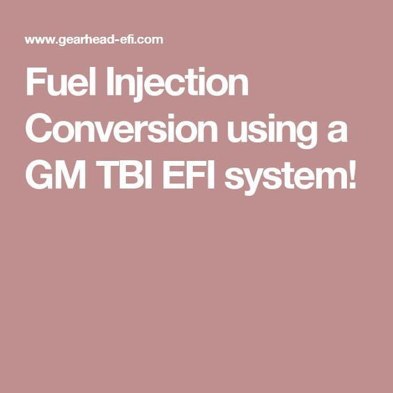 Fuel Injection Conversion using a GM TBI EFI system! | C10 trucks