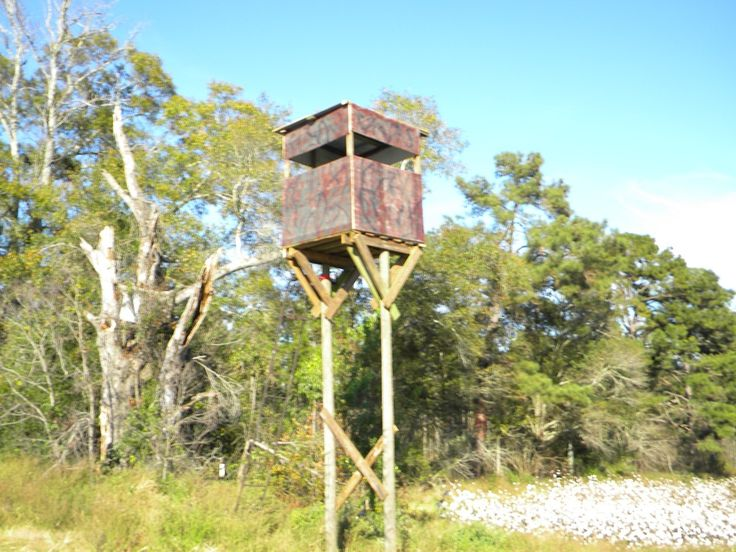 How To Build A Free Standing Deer Hunting Blind In The