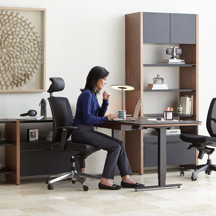 Semblance Modular Office By Bdi Create Office Space In Any Space Combine A Variety Of Components Desk She Furniture Office Furniture Design Modular Office
