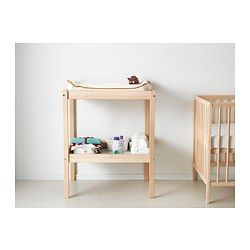 SNIGLAR Changing table, beech, white $29.99 Consider a darker stain, some little caster wheels at the one end, an IKEA long cabinet handle on the other, and shazam - bar cart for under 45 bucks...