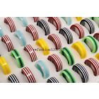 10ps Wholesale Jewelry Lots Top Grade Resin Lucite Stripe Rings Wedding FREE
