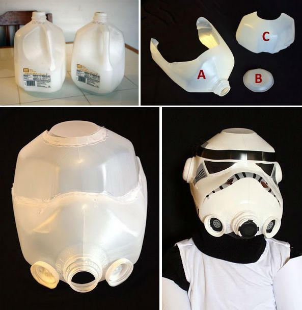 How to Make Milk Jug Storm Trooper Helmet - DIY & Crafts - Handimania