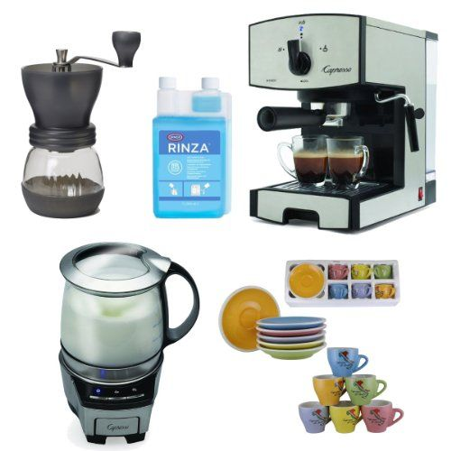 coffee machine with grinder and frother