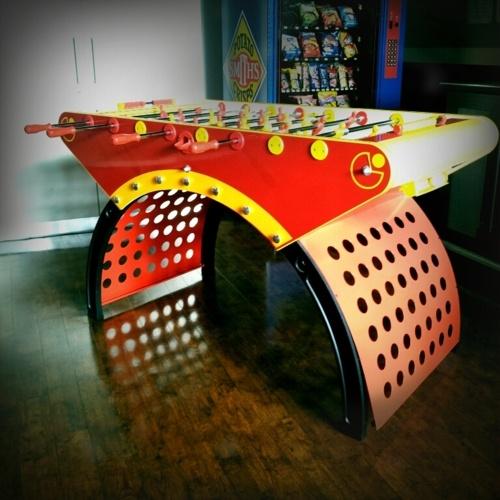 LED Foosball Table! Pacman Football