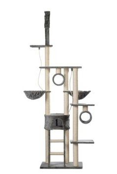 Cat Tree 230-260 cm Grey Plush: Amazon.co.uk: Pet Supplies