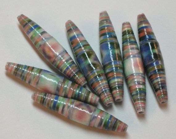 Paper beads Recycled paper beads Loose paper beads Beading
