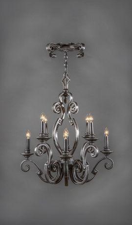 Cordoba Vintage Wrought Iron Chandelier - 8 Light