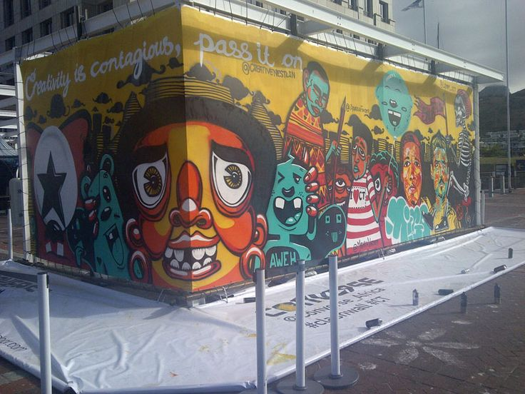 The beautiful work of artists Skumbuzo and Garth (Converse-supported mural)
