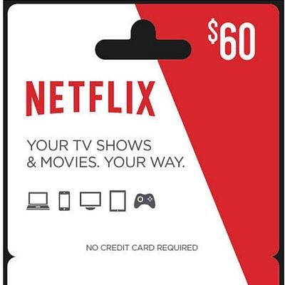 $60 Netflix Gift Card   $5 Best Buy Gift Card for $60   Free Shipping