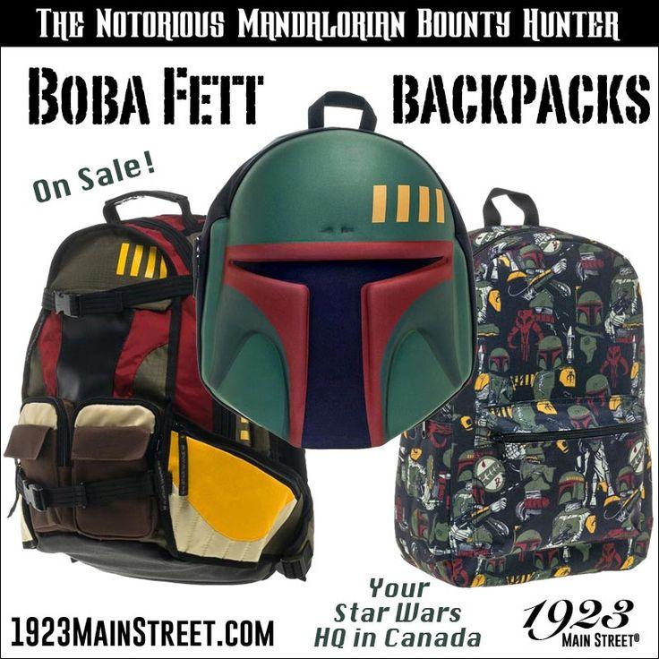 Star Wars Boba Fett Bounty Hunter Backpacks #StarWars  #BobaFett #BountyHunter
