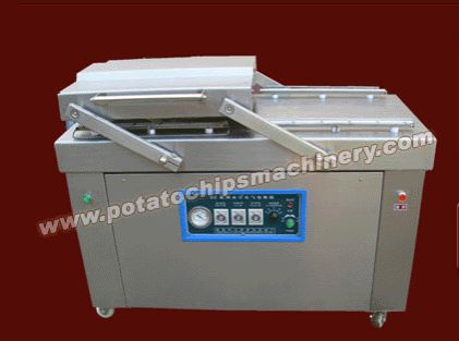 Potato Chips Packing Machine  can realize both nitrogen filling package and vacuum package. Potato chips and French fries and other puffed snacks should be packed in nitrogen filled bags. And other meat products and blanched vegetables are packaged in vacuum bags. Potato chips packing machine are three models (60-160 times/h, 90-360 times/h and 90-360 times/h ) in different capacity to meet your demand. If you have any question and need can send mail to us, address:info@amisymachine.com.